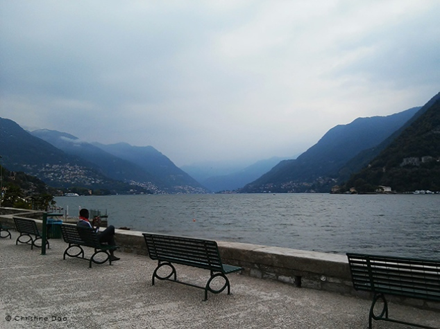 Cloudy day at Lake Como a couple weeks ago. Image Credit: Christine Dao